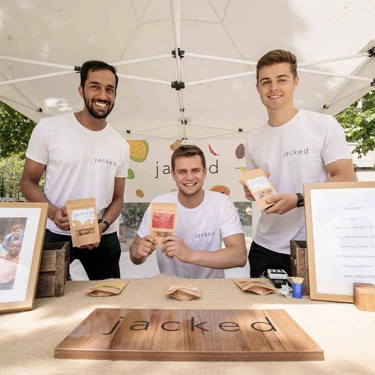 jacked foods owners at dried fruit products launch