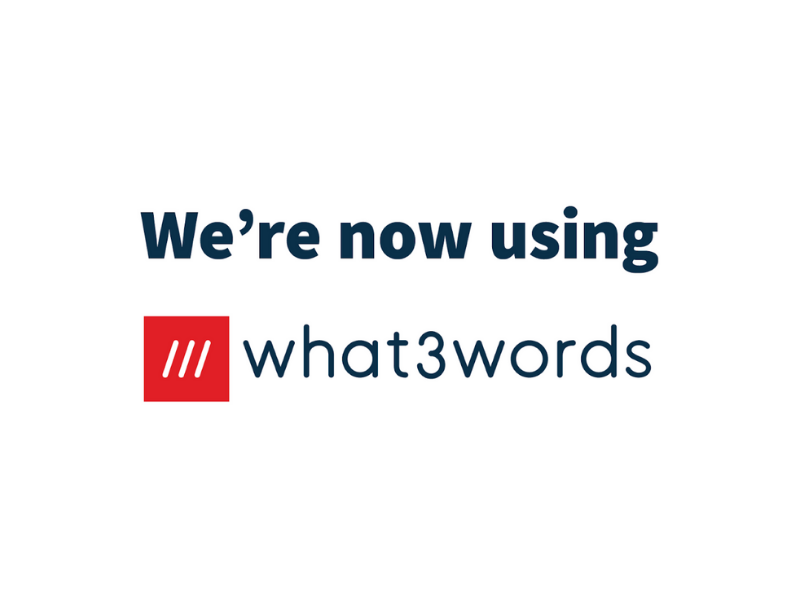 now using what3words poster